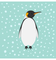King Penguin Emperor Aptenodytes Patagonicus Snow vector image