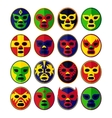 Mexican wrestling Masks set vector image vector image