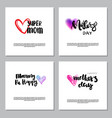 mothers day set of hand drawn lettering on white vector image vector image