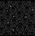 mystical ghostly cat skull seamless pattern vector image vector image