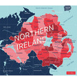 northern ireland country detailed editable map vector image vector image