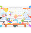 office worker and colleagues that ask for help vector image