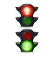 Pedestrian Traffic Lights Set vector image