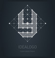 plogo with letter y design element with squares vector image vector image