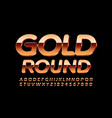 premium sign gold round with 3d modern font vector image
