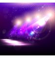 Purple Spotlight Background vector image