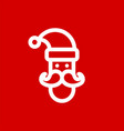 santa claus simple flat icon vector image