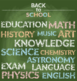 School Education Branch of Knowledge Words vector image vector image