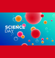 science day abstract background with color cells vector image