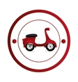 Scooter motorcycle vehicle vector image vector image