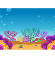 Seamless coral reef under the water vector image