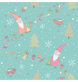 Seamless pattern with Santa Claus and gifts vector image vector image