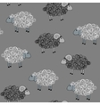 seamless pattern with sheeps vector image vector image