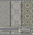 set of seamless hand drawn mandala patterns vector image vector image