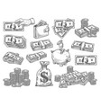 set with money vector image