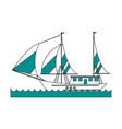 ship with sails icon image vector image vector image