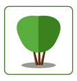 Shrub tree icon vector image