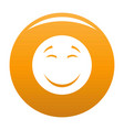 smile icon orange vector image vector image