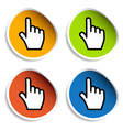 smooth cursor hand stickers vector image vector image