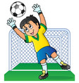 soccer theme image 3 vector image