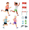 sport accessories for runners vector image vector image