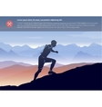 Sport running man in cross mountain landscape vector image vector image