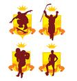 Sports emblem2 vector image vector image