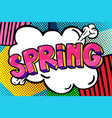spring word bubble vector image vector image