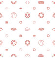 sunny icons pattern seamless white background vector image vector image