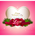 valentine gift card Design vector image vector image