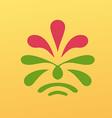 Vintage floral emblem design vector image vector image