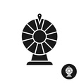 Wheel of fortune black icon symbol Simple one vector image