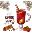 winter or autumn drink for your design vector image vector image