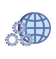 world gears support on white background vector image