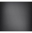Chrome metal grid vector image