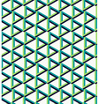 Isometric unreal triangle pattern background vector image