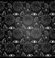 seamless pattern all seeing eye on chalkboard vector image