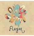 Square Flayer template design Abstract Retro vector image