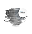 Abstract Watercolor Black And White Background vector image