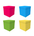 a set of boxes gift on birthday vector image vector image