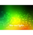 Abstract green colorful bokeh background Festive vector image vector image
