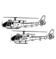 aerospatiale gazelle sa 340 341 342 vector image vector image