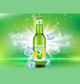apple cider bottle package realistic mockup vector image vector image