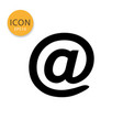at sign mail icon on white background vector image