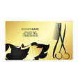 beauty salon business card gold vector image vector image