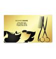 beauty salon business card gold