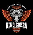 biker patches king cobra vector image vector image
