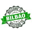 bilbao round ribbon seal vector image vector image