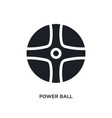 black power ball isolated icon simple element vector image vector image