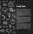 blackboard food poster with hand drawn vector image